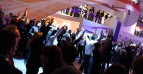 Flashmob Nokia Siemens network - GSM Barcelona