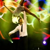 Acrobatic couple performance