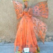 Mariposa Estatua humana