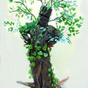 Estatua humana arbol