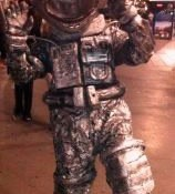 Estatua humana astronauta