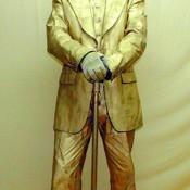 Estatua humana caballero