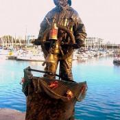Estatua humana marino