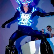 Gogo dancer with leds costume