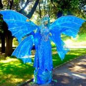 Estatua Humana de mariposa