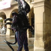 Alien Estatua humana