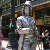 Estatua Humana plata Barcelona