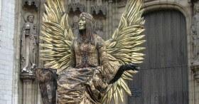 Statue humaine médiévale Barcelone