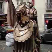 Estatua Humana Rambla en Barcelona