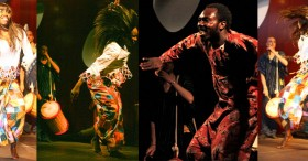 Shows African dance percussion