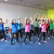 Dancers flashmob show