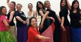 Flamenco hen dance class