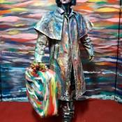 Estatua humana viajero
