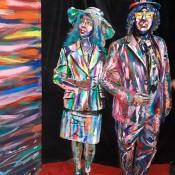 Estatuas humanas pintadas