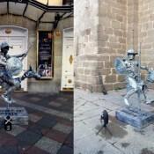 Estatua-Humana-Quijote
