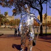 Estatua humana - Hombre espejo3