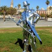 Estatua humana - Hombre espejo