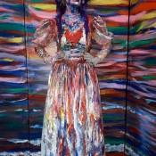 Estatua señora pintada