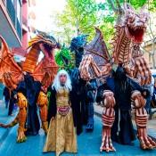 Pasacalles con Dragones gigantes
