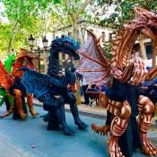 Animacion dragones - barcelona