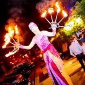 Bdance - stilts and fire acts