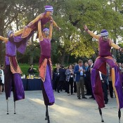 Stilts acrobats for events
