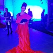 Azafata bata flamenco