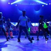 Espectáculo rollerskate para eventos