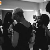 Bailarines flashmob backstage