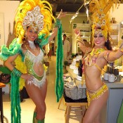 Samba dancers in costumes for parties