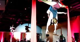 Bdance - show danza aérea con telas