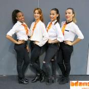 Danseuses salons commerciaux