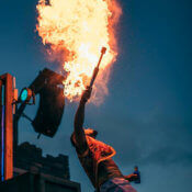 Fire show for events