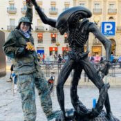 Estatua Alien Soldier - Madrid