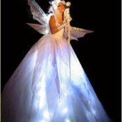 Fairy with stilts and leds dress